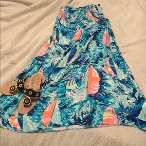 "Lilly Pulitzer Bodhi Maxi Skirt "" Hey Bay Bay"""